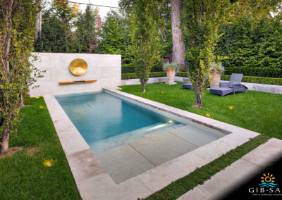 GibSan Residential Geometric Pool Traditional Pool
